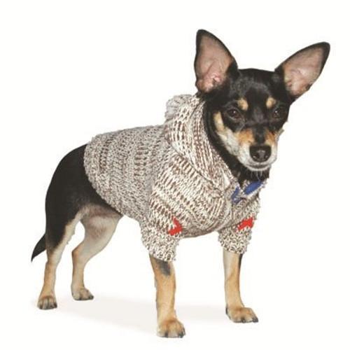Brown Hoodie Sweater Coat