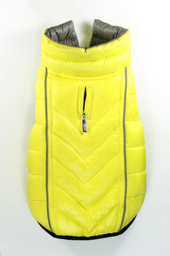 Featherlite Reversible-Reflective Puffer Vest Yellow/Grey