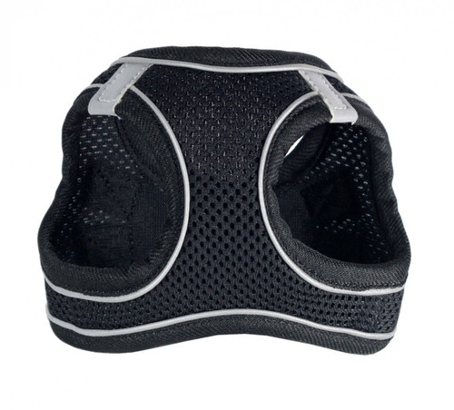 EZ Reflective Sports Mesh Harness Vest - Black