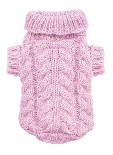 Angora Cable Knit Sweater Pink