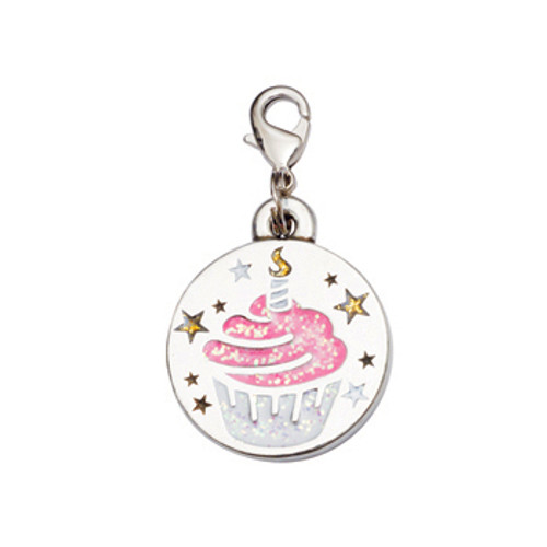Birthday Cupcake Dog Charm