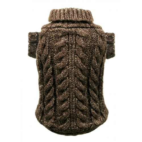 Hip Doggie Classic Angora Cable Knit Sweater