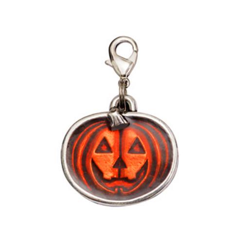 Pumpkin Trick or Treat Halloween Dog Charm