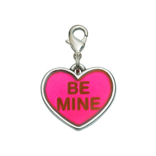 Be Mine Heart Valentine's Dog Charm