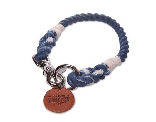 Denim Blue Ombré Dog Collar