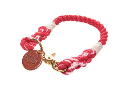 Scarlet Red Ombré Dog Collar