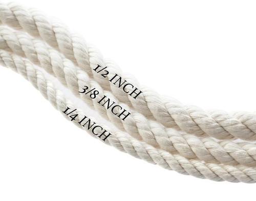 Natural White Dog Collar - Brown Hemp Twine