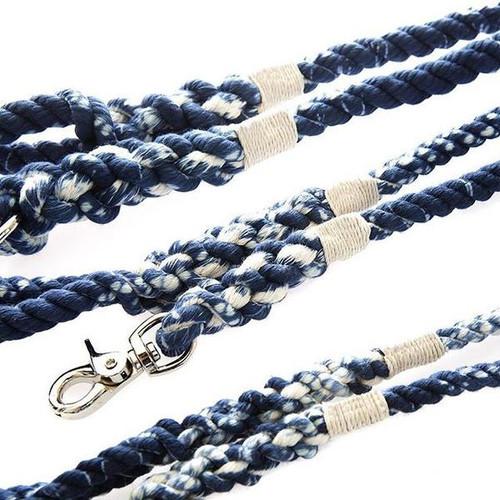 Marble Blue Rope Dog Leash