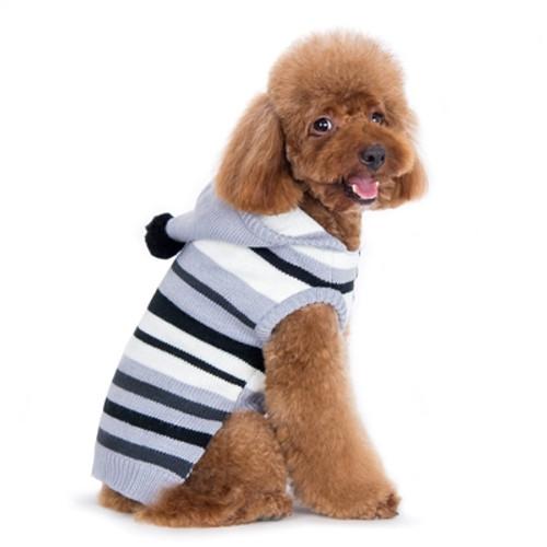 Uneven Stripe Hoodie Sweater