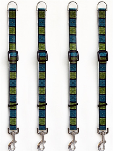 Savannah Squares Kiwi and Turquoise Leash Extenders