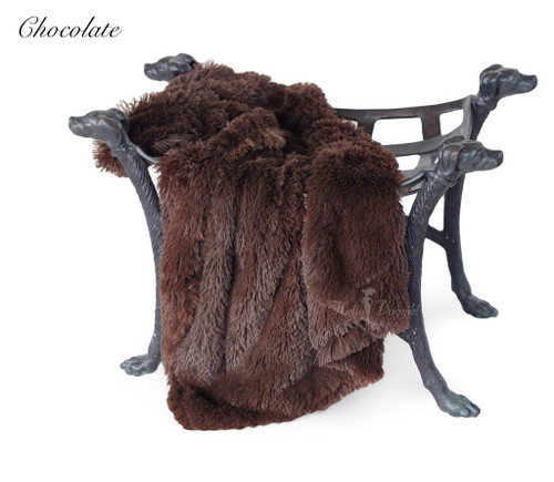 Luxury Shag Blankets - Chocolate
