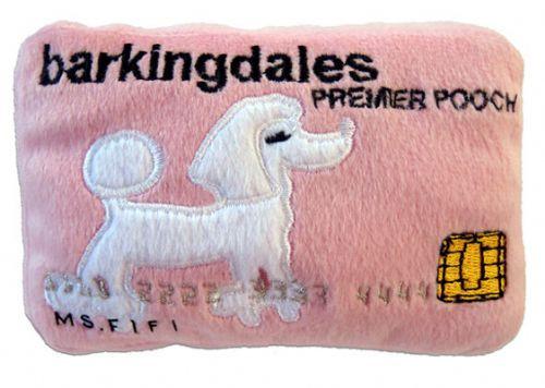 Dog Diggin Designs Barkingdales Credit Card Plush Toy