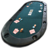 78 INCH TEXAS HOLDEM PADDED Poker Table Top with Cup Holders