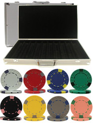 1000PC PRO CLAY 13GM CLAY POKER CHIP SET WITH ALUMINUM CASE