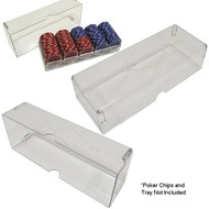 10 CLEAR ACRYLIC Poker Chip Rack/Tray COVERS