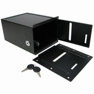 Black Steel Toke Box with Lock with Under Table Mount (For Tables)