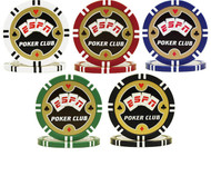 ESPN POKER CLUB Poker Chip Sample Set - 5 Different Chips!