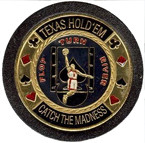 "BASKETBALL ""Texas Hold'em Catch The Madness"" Card Guard - NEW!"