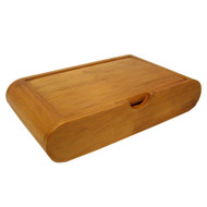WOODEN PLAYING CARD BOX - FITS 2 DECKS OF CARDS