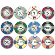 Milano Claysmith 10gm Premium Clay Poker Chips - 12 Chip Sample Set