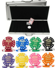 Gold Foil Stamped Tournament 12.5gm 500 Chip Poker Set - Choose Chips!