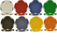 5-Spot Dual Color Poker Chip Sample Set - 8 New Chips!