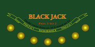 Premium Blackjack Sublimation Cloth Felt Layout