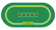 Rollout Holdem Poker Premium Neoprene Rubber Poker Table Layout - Choose Style!