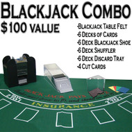 Professional Casino Style Deluxe 6-Deck Blackjack Set - Play Blackjack Anywhere!