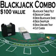 Professional Casino Style Deluxe 6-Deck Blackjack Set - Play Blackjack Anywhere!