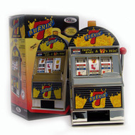 Replica Burning 7's Mini Slot Machine Bank - Spinning Reels!