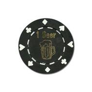 ONE (1) Beer Poker Chip Button Marker Token - Set of 25!