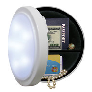 Wireless Closet Light with Concealed Safe - 8 Inch Diameter!