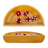 Deluxe Wooden Dice Boat for Craps