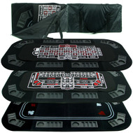 Deluxe 3 in 1 Poker/Craps/Roulette Tri Fold Table Top -  3 Games in 1!