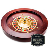 18 INCH DELUXE WOODEN Mahogany Roulette Wheel