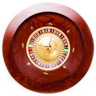 Deluxe 19.5 Inch Quality Wooden Mahogany Roulette Wheel