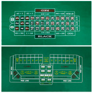 Craps and Roulette Table Felt Layout - 2 Sided