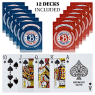 12 Decks Box of Elite Medusa Back Premium Poker Playing Cards  - Choose Color!