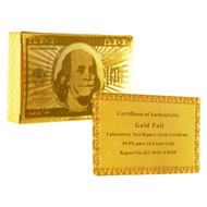 24k Gold Plated Playing Cards - 1 Deck
