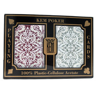 KEM Jacquard 100% Plastic Playing Cards - 2 Deck Set