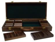 Quality Walnut Wooden 500 Chip Poker Case