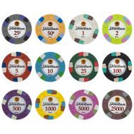500 Showdown Club & Casino 13.5gm Bulk Clay Poker Chips - Choose Chips!