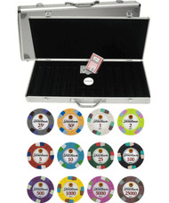 Showdown Club & Casino 13.5gm 500 Chip Clay Poker Set with Aluminum Case - Choose Chips!