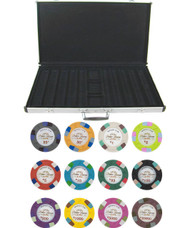 Monaco Club 13.5gm 1000 Chip Clay Poker Set with Aluminum Case - Choose Chips!