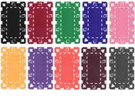 5 RECTANGULAR Poker Chip Plaques- Choose from 11 Colors!
