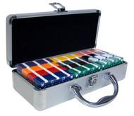60 count poker plaque set with aluminum case choose colors - Poker Sets