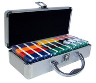 60 Count Poker Plaque Set with Aluminum Case - Choose Colors!