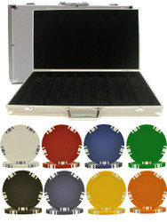 1000PC 5-SPOT DUAL COLOR 11.5GM POKER CHIP SET WITH ALUMINUM CASE
