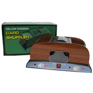 2-DECK WOOD AUTOMATIC CARD SHUFFLER